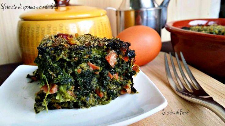 Un piatto che si puo' preparare anche in anticipo!!E' Buono anche freddo questo Sformato di spinaci e mortadella!!Senza glutine!