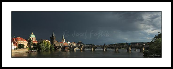 Framed fine art photography - Monastery of the Knights of the Cross with a Red Star and Charles Bridge on the Vltava River, Prague, Czech Republic. Photo: Josef Fojtik - www.joseffojtik.com - https://www.facebook.com/Fineartphotoprints