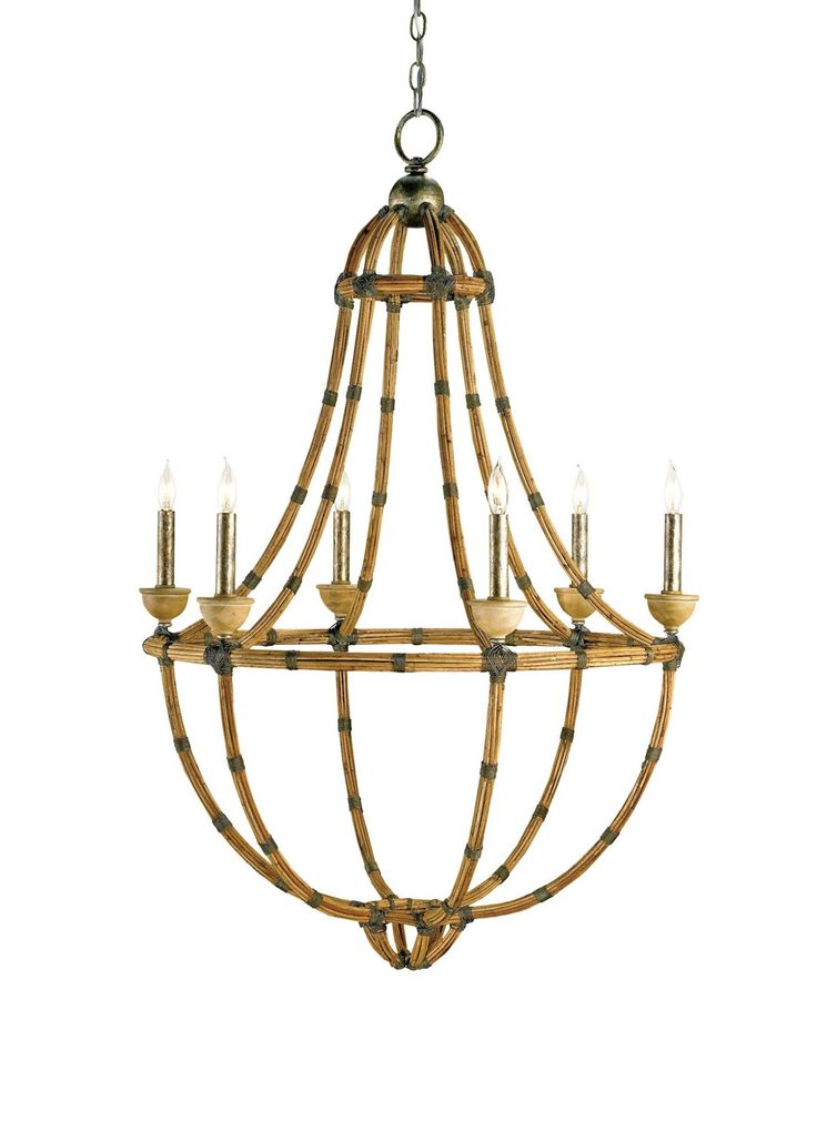 Appealing in its simplicity and form, the Palm Beach Chandelier showcases the perfect combination of bamboo and wrought iron with graceful curves and mindful detailing. PRODUCT NAME: Palm Beach Chande