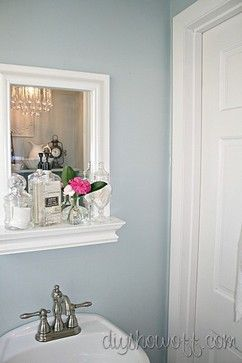 30 best images about half bathroom ideas on pinterest for Benjamin moore bathroom colors 2011