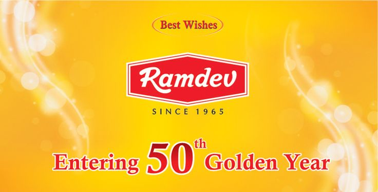 Ramdev Foods Pvt. Ltd. Entering into 50th Golden Year.