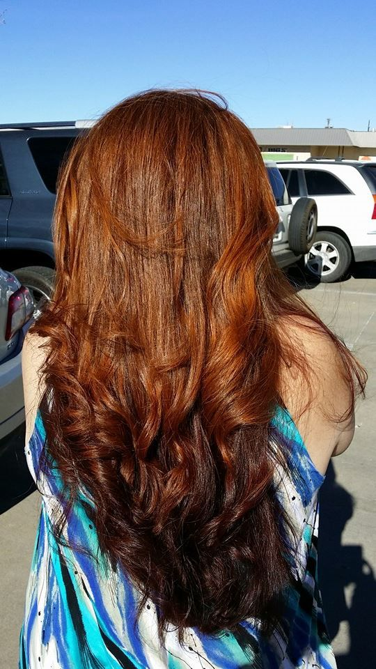 62 best shine glaze treatments images on pinterest gorgeous hair redken eq shades papaya on top chili underneath over natural red hair color solutioingenieria Choice Image