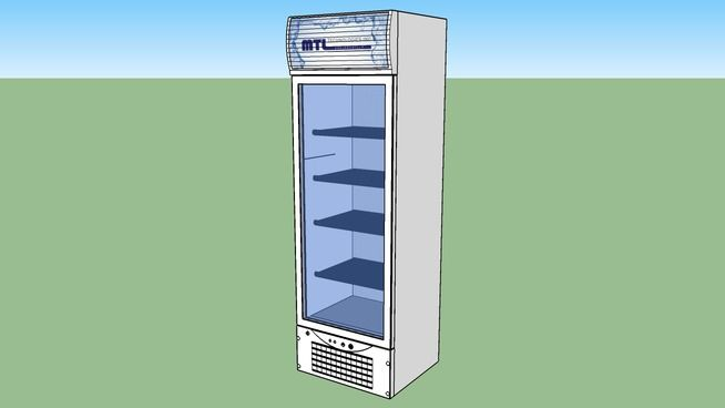 Large preview of 3D Model of Vertical Cooler