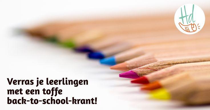 Ontwerp je eigen klaskrant en start het schooljaar meteen goed!