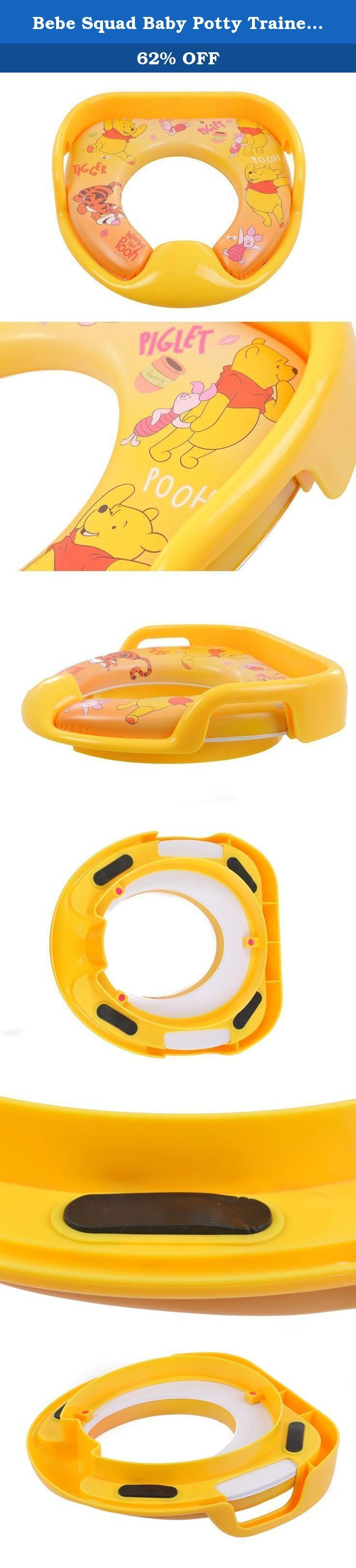 Bebe Squad Baby Potty Trainer Seat - The Soft Seat Ideal for Potty Training, Featuring the Best Baby Toilet Seat Design (Yellow). BEBE SQUAD Baby Potty Trainer Seat With the BEBE SQUAD Potty Trainer Seat your little ones will learn how to use the toilet in style, while having a whole lot of fun in the process. BEBE SQUAD's Potty Trainer amazing benefits! The design features multiple color options and cartoon character graphics that you can select from to keep your babies entertained. The...