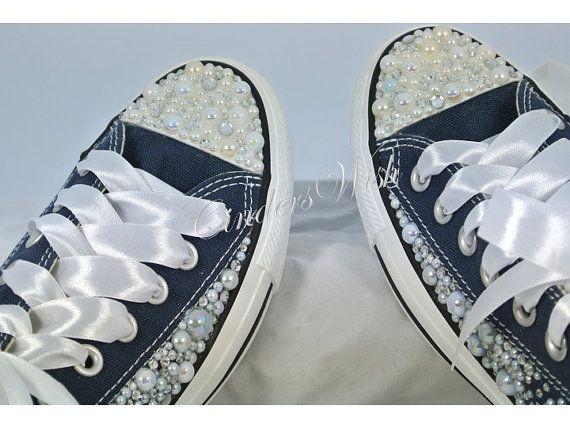 Pearl Converse / bruiloft converse / bruids chucks door CindersWish