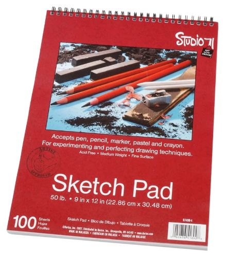 Let this sketch pad record your #artistic inspirations. 100 sheets of smooth, fine paper in a #spiral tablet. Accepts pen, pencil, marker, pastel and crayon. Expe...