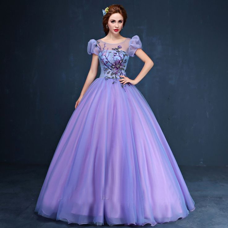 purple beading embroidery bubble ball gown medieval dress queen/princess cosplay Medieval Renaissance Gown Victorian dress/belle