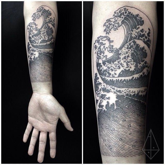 Great Wave Off Kanagawa Forearm Tattoos Ocean Tattoos Wave Tattoo Sleeve