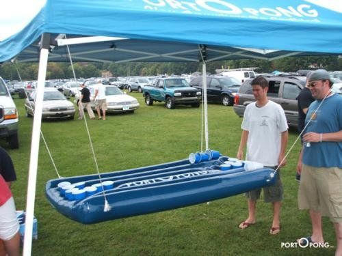 Portopong inflatable beer pong table - perfect for the bachelor party