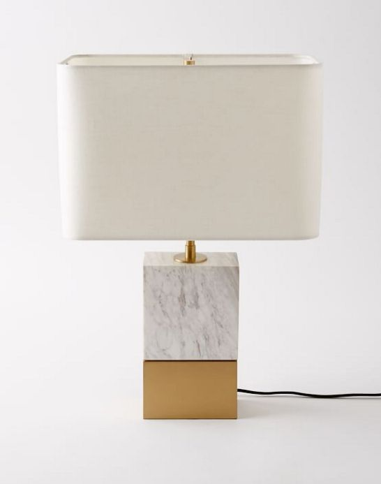 Marble and Brass Table Lamp