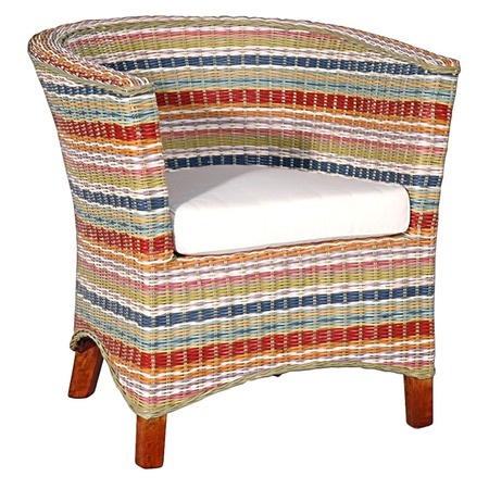 I pinned this Funstripes U Chair I from the Jeffan event at Joss and Main!Multicolored Stripes, Arm Chairs, Rattan Arm, Club Chairs, Chairs Construction, Armchairs, Jeffan Funstrip, Hands Woven Rattan, Construction Materials