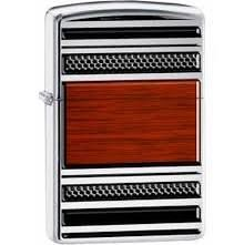Zippo High Polish Chrome, Steel and Wood Design  $16.19  Lucas Lighters  +$2.99 shipping. No tax