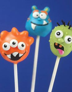 Monster and Zombie Cake Pops by Bakerella