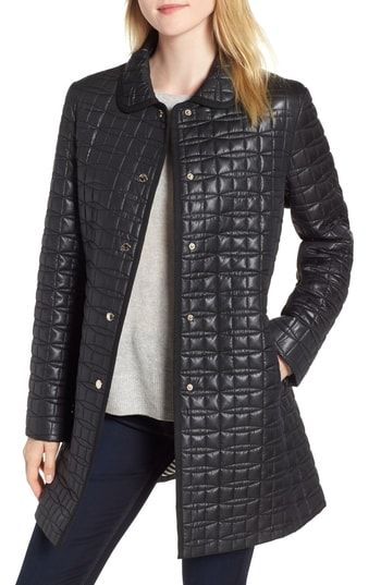 cff6075214e9 Chic kate spade new york bow quilted coat women s coats Jacket online.    188