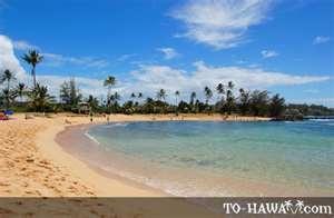 Poipu Beach on Kaui, Hawaii