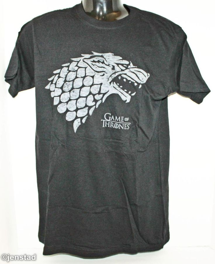 GAME OF THRONES WOLF T-SHIRT MEDIUM OFFICIAL HBO CLOTHING BLACK GRAPHIC TEE 2015 #HBO #GraphicTee