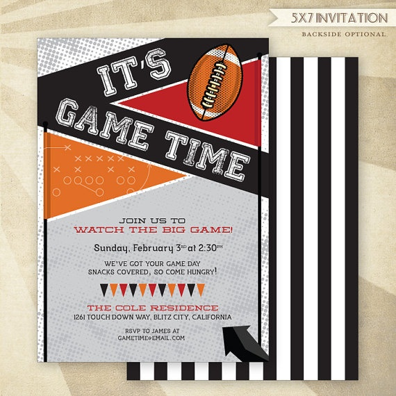 CUSTOM Football Party  PRINTABLE Invitation by HWTM on Etsy!