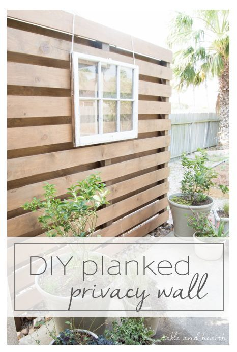 Diy Patio Privacy Screen Ideas: Simple Planked DIY Privacy Wall