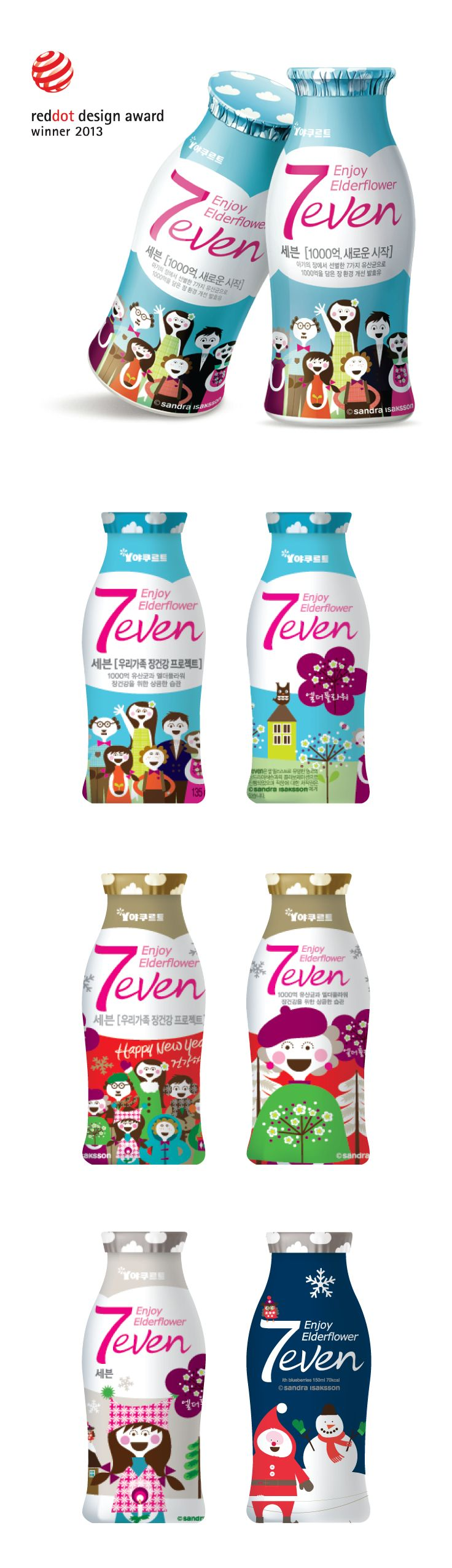 Our award winning project Yakult-7even, with a brand idea 'The Little Cheers'.7even achieved a big sales hit over 100 billion won in the first year of its launch, S.Korea. PD
