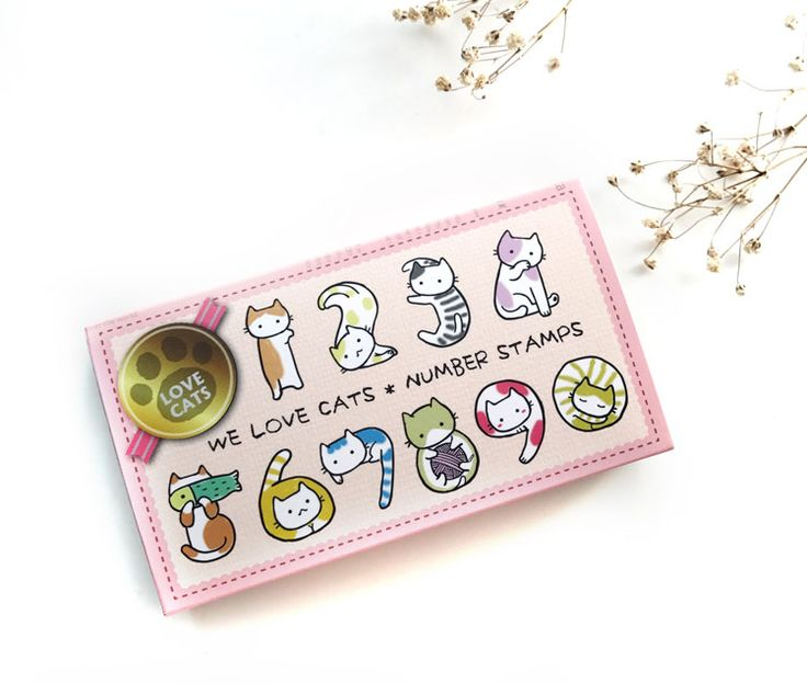 micia We Love Cats Number Stamps  ※ stamp size : 21mm×27mm ※ NS-01
