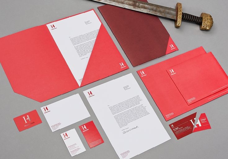 Logo and stationery for the Swedish History Museum designed by Bold