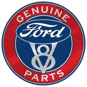 Open Road Brands Ford Parts Die-Cut Embossed Tin Sign