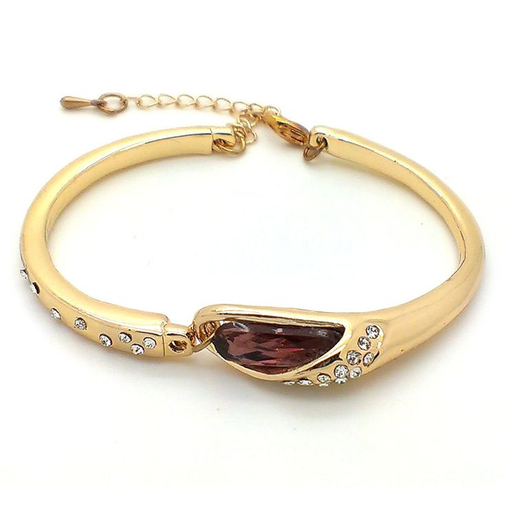 Online Buy Beora 18k Gold Plated Purple Crystal Bracelet Bangle at Trendymela. Get this bracelet at just Rs.699 & use code OFF100 to get discount. Buy Now @ Trendymela.com