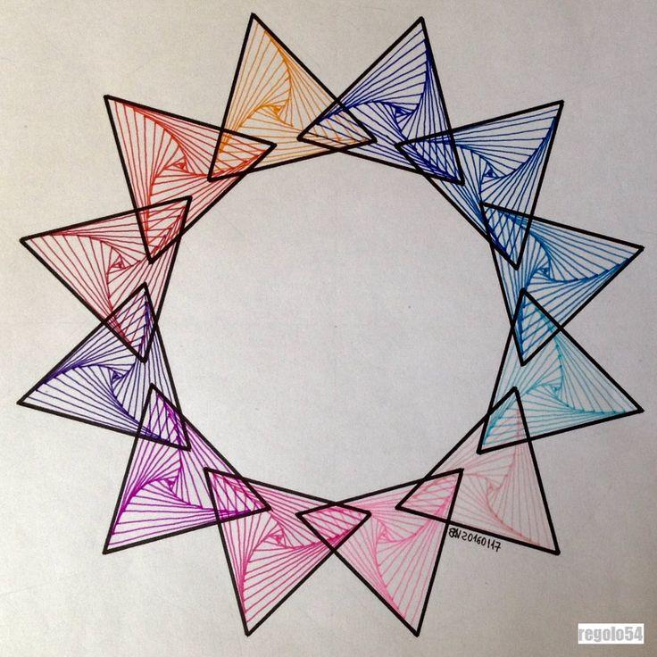 "Regolo Bizzi on Twitter: ""#regolo54 #geometry #symmetry #pattern #handmade #mathart #circle #disk #triangle #rainbow #mandala #structure #star https://t.co/uPrcPE5Fc9"""