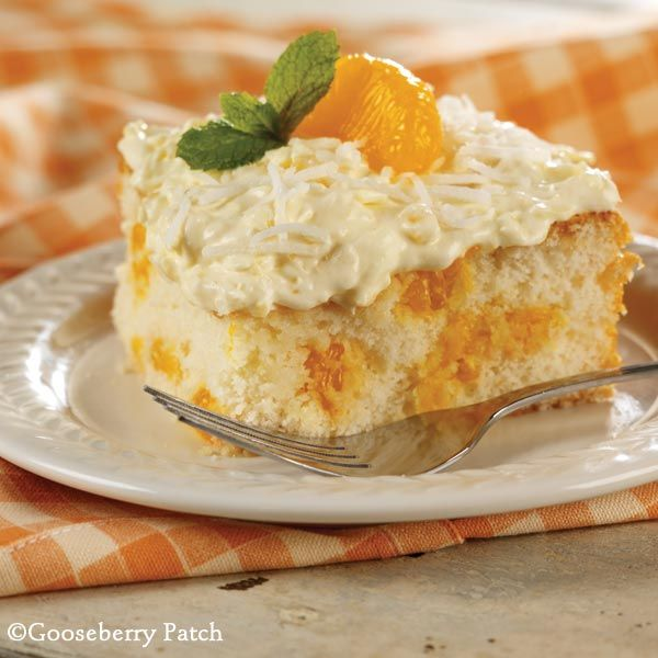 Gooseberry Patch Recipes: Mandarin Orange Cake. Cool and creamy, this cake is perfect for Spring!