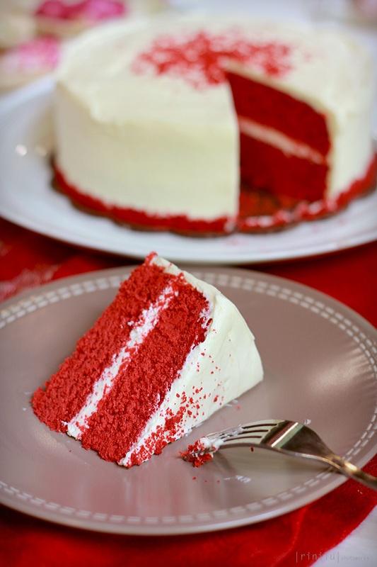 A slice of Red Velvet - The Bake Bits