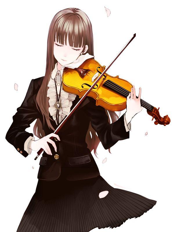 render violin | Premium Design 3D: Render - Mulher e violino -