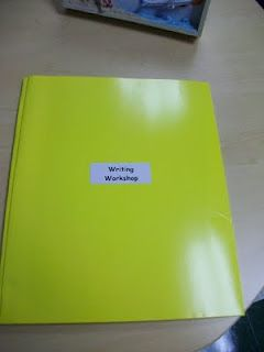 Lucy Calkins Writing Workshop-- Folder Ideas