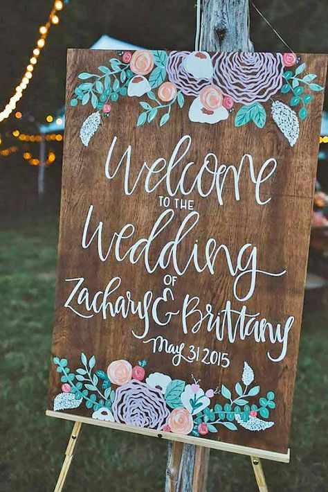 18 Most Popular Rustic Wedding Signs Ideas ❤ See more: http://www.weddingforward.com/rustic-wedding-signs/ /explore/weddings/ /search/?q=%23rustic&rs=hashtag