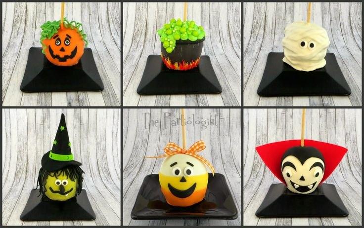 Ridiculously cute! How To Make Halloween Caramel Apples