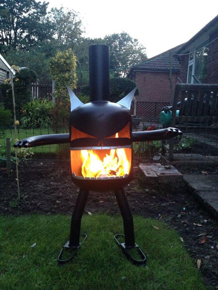 Fire Garden Goblin Gas Bottle Log Wood Burner Chimenea