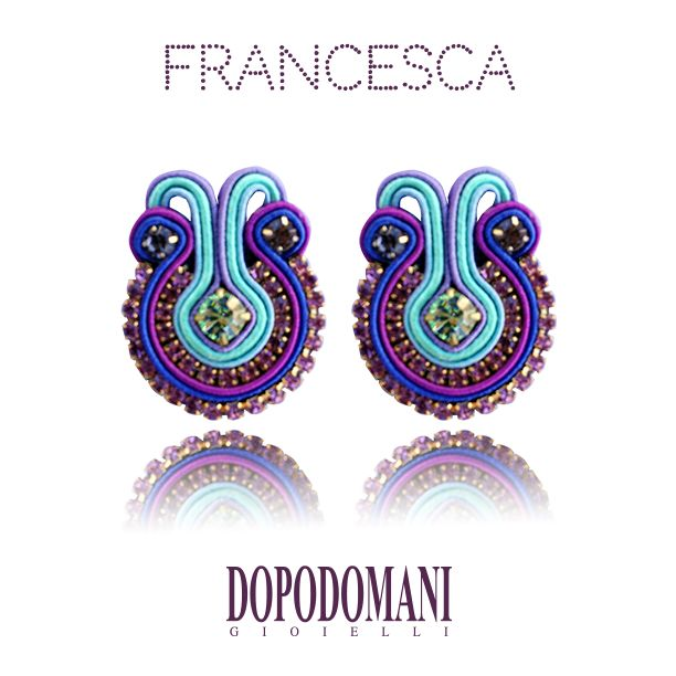 These are the  #Francesca earrings from the #Fiorella collection.  Estos son los zarcillos #Francesca de nuestra increíble colección #Fiorella