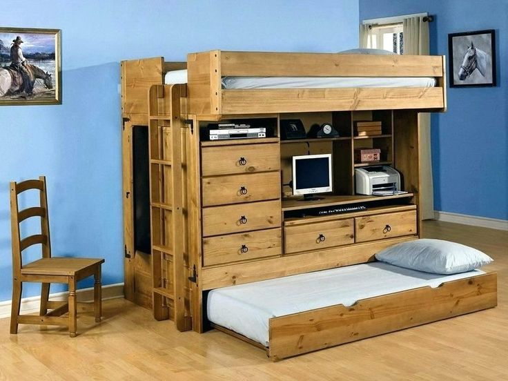 bunk bed with desk what is a loft for adults stairs ...