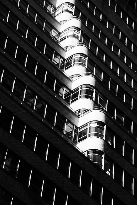 Runaway Balconies by Zina Zinchik #photography #blackandwhite #architecture #fineart #geometric #abstract