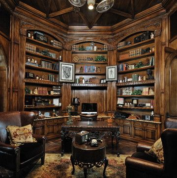 Cypress Traditional Home Office Houston Stillwater Builders