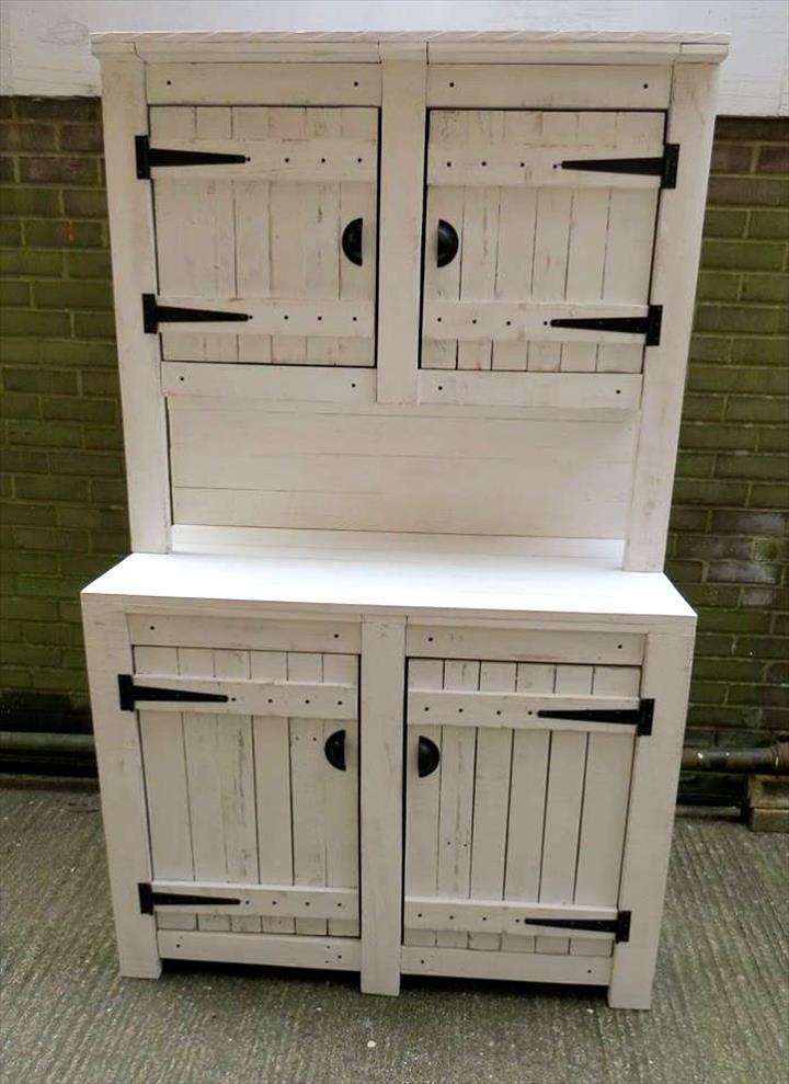 Kitchen Cabinet Unit L Type Small Design Pallet Cabinets Hutch Pallets Furniture