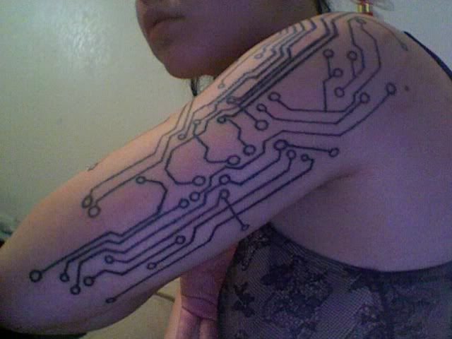 Circuit Board Tattoo Designs: My Circuit Board Arm
