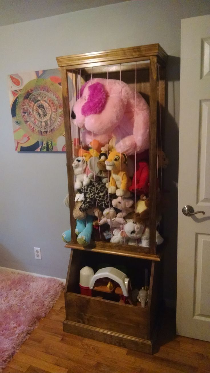 Stuffed Animal Zoo And Toy Box In 2019 Baby Toy Storage