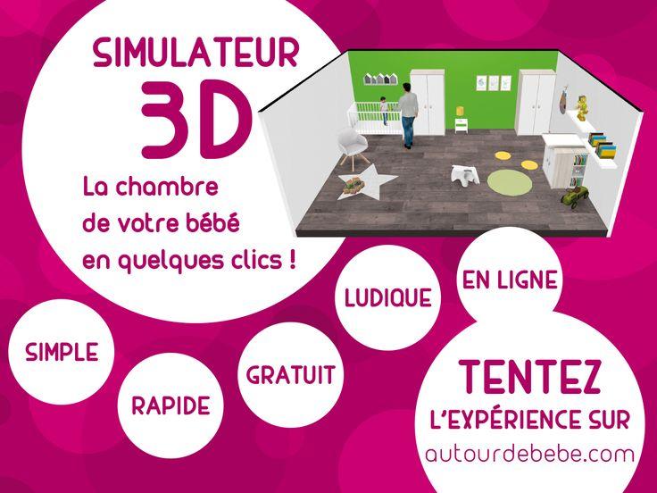 Découvrez notre logiciel 3D pour la chambre de bébé !  Faites vos plans en 3D pour aménager sur-mesure, la chambre de votre enfant !