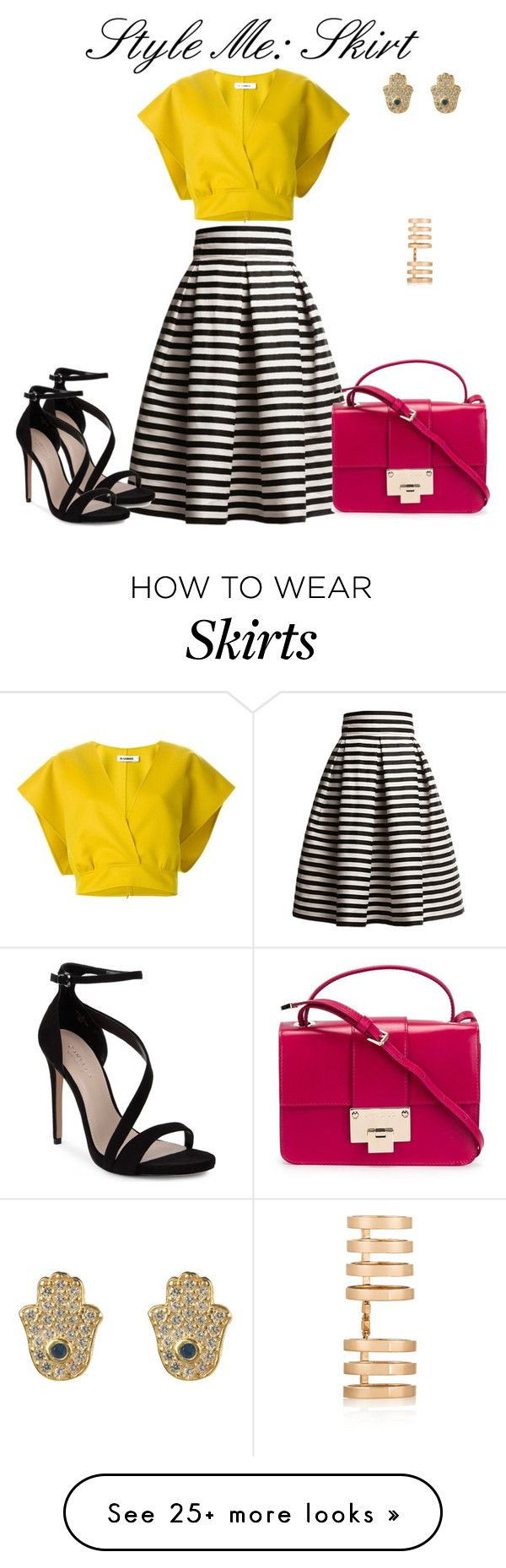 """Style me: Skirt"" by dazzlious on Polyvore featuring Rumour London, Jil Sander, Jimmy Choo, Carvela and Repossi"