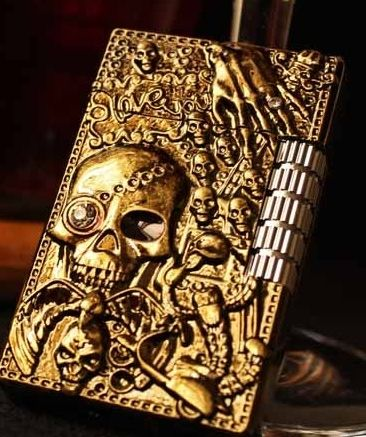 new  Old style  wheel gas  relief skull lighter //Price: $33.80 & FREE Shipping //     #hashtag3