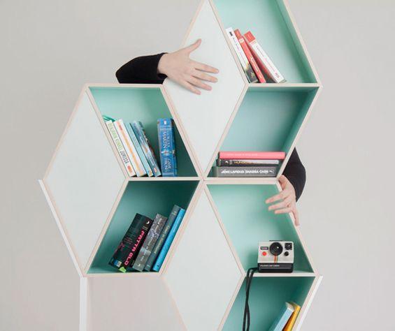 mint bookshelves / Kristina Lindqvist