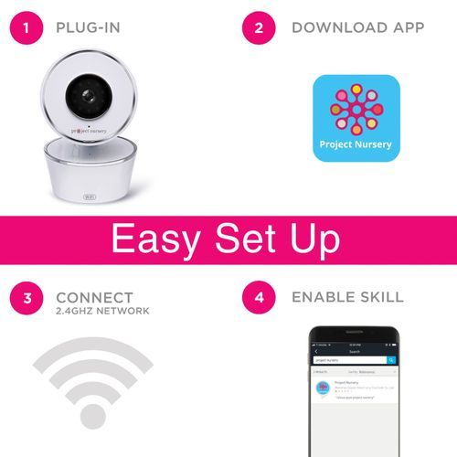 Project Nursery – Smart Wi-Fi Baby Monitor Camera – White  – Products