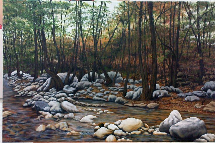 into the forest oil painting 55X70 (I did this for a young couple as present for their marriage)
