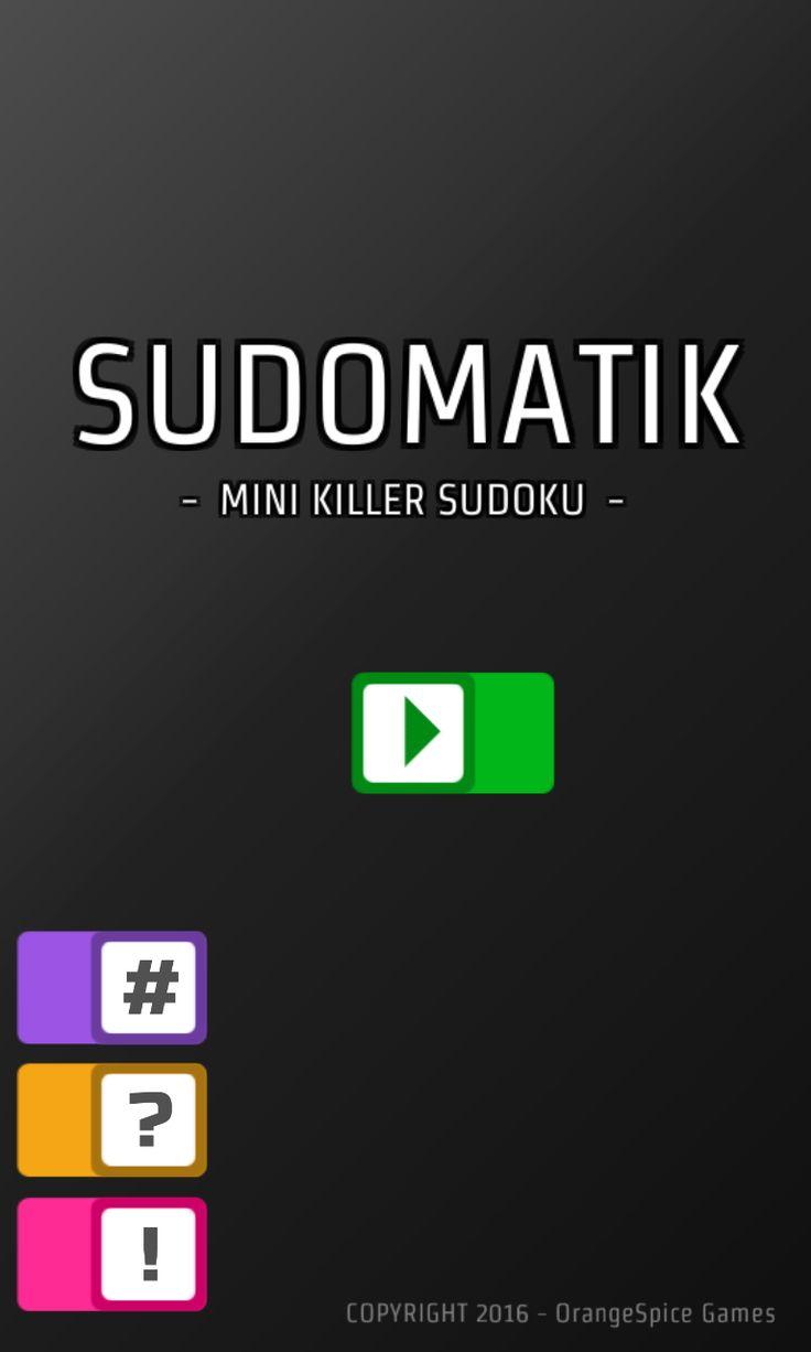 Mini Killer Sudoku - SUDOMATIK    #game #mobileGame #Mobile #Phone #Android #Windows #WindowsPhone #New  https://play.google.com/store/apps/details?id=com.orangespicegames.sudomatik